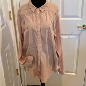 ABERCROMBIE & FITCH NWT DUSTY ROSE BUTTON DOWN XL